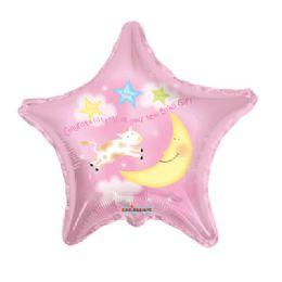 100 Units of CV 18 DS Congrat Baby Girl Star - Balloons/Balloon Holder
