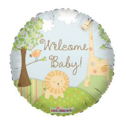 100 Units of CV 18 DS Welome Baby Jungle - Balloons/Balloon Holder