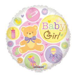 100 Units of CV 18 DV Baby Girl Bear Gellibean - Balloons/Balloon Holder