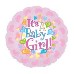 100 Units of CT 17 DS Baby Girl Footsie - Balloons/Balloon Holder