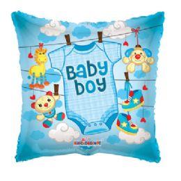 100 Units of CV 18 DV Baby Boy Clothes Sq - Balloons/Balloon Holder