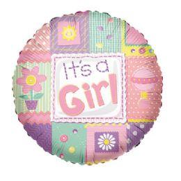 100 Units of CV 18 SS It's A Girl Quilt - Balloons/Balloon Holder