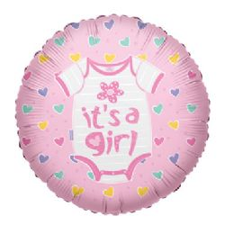 100 Units of CV 18 SS It's A Girl Baby Clothes - Balloons/Balloon Holder