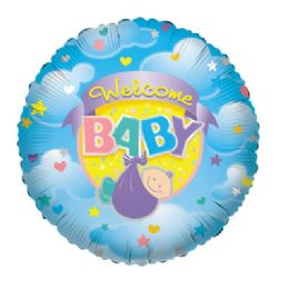 100 Units of CV 18 SS Welcome Baby - Balloons/Balloon Holder