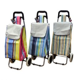 6 Units of Shopping Cart w/ Wheels Metal Handle - Shopping Cart Liner