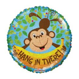 100 Units of CV 18 DS Hang In There Monkey - Balloons/Balloon Holder
