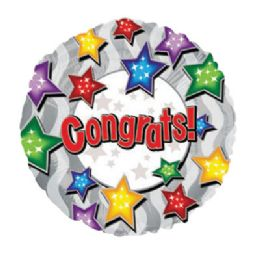 100 Units of CT 17 DS Congrats Stars - Balloons/Balloon Holder