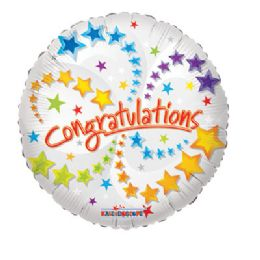 100 Units of CV 18 SS Congratulations - Balloons/Balloon Holder