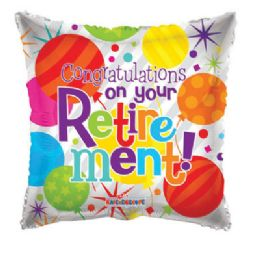 100 Units of CV 18 DV Congrats Your Retirement - Balloons/Balloon Holder