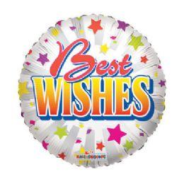 100 Units of CV 18 DV Best Wishes Stars - Balloons/Balloon Holder