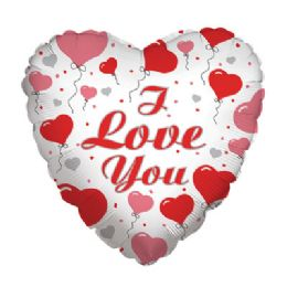 100 Units of CV 18 SS I Love U w/Hearts - Balloons/Balloon Holder