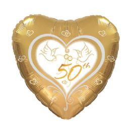 100 Units of CT 17 DS 50th Anniversary Doves - Balloons/Balloon Holder