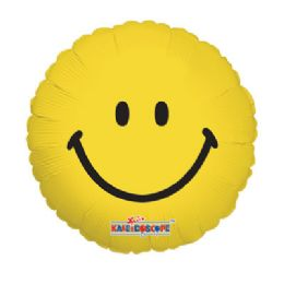 100 Units of CV 18 DV Smiley Face - Balloons/Balloon Holder