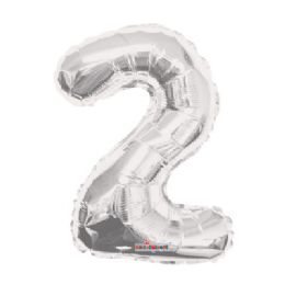 100 Units of CV 14 DS Silver Number 2 - Balloons/Balloon Holder