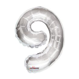 100 Units of CV 14 DS Silver Number 9 - Balloons/Balloon Holder