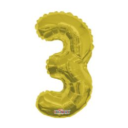 100 Units of CV 14 DS Gold Number 3 - Balloons/Balloon Holder