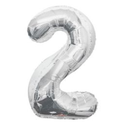 100 Units of CV 34 JS Silver Number 2 - Balloons/Balloon Holder