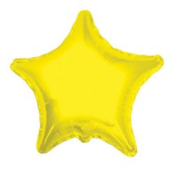 100 Units of CV 18 DS Star Yellow - Balloons/Balloon Holder