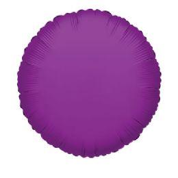 100 Units of CV 18 DS Round Purple - Balloons/Balloon Holder