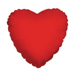 100 Units of CV 18 DS Heart Red - Balloons/Balloon Holder