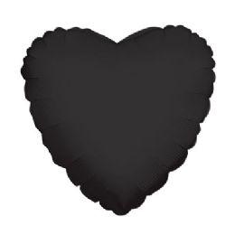 100 Units of CV 18 DS Heart Black - Balloons/Balloon Holder