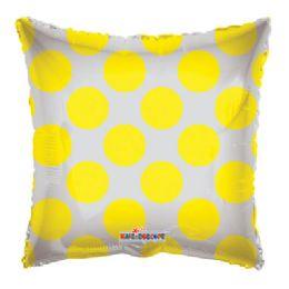 100 Units of CV 18 DS Yellow Cirlces Clv - Balloons/Balloon Holder