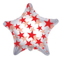 100 Units of CV 22 DS Red Stars Shape Clv