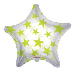 100 Units of CV 22 DS  Lm Green Stars Shape Clv