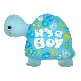 100 Units of CV 24 JS Baby Boy Turtle 3D - Balloons/Balloon Holder