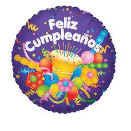 100 Units of Feliz Cumpleanos Cake/Streamer - Balloons/Balloon Holder