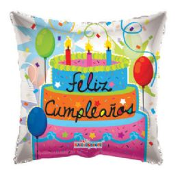 100 Units of Feliz Cumpeanos Pastel Balloon