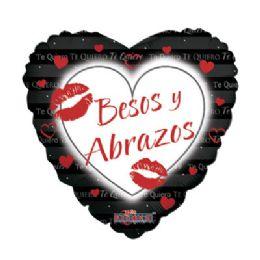 100 Units of Besos Y Abrazos Balloon - Balloons/Balloon Holder