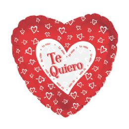 100 Units of Te Quiero Heart w/Arrow Balloon - Balloons/Balloon Holder