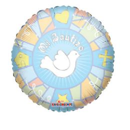 100 Units of CV 18 DS Mi Bautizo Vitral Azl - Balloons/Balloon Holder