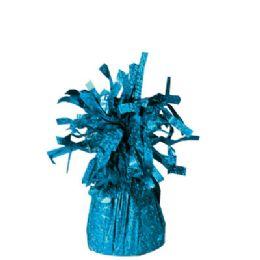 72 Units of Wght Tinsel Teal Blue 4.75oz - Party Novelties