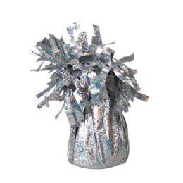 72 Units of Wght Tinsel Silver Sprkl 4.75oz - Party Novelties
