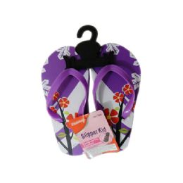 72 Units of Girls Assorted Print Flip Flops - Girls Flip Flops