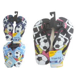 72 Units of Boys Assorted Print Flop Flop - Boys Flip Flops & Sandals