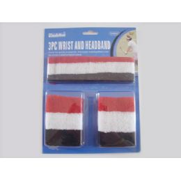144 Units of Wrist & Head Band 3pcs 3asst - Personal Care Items