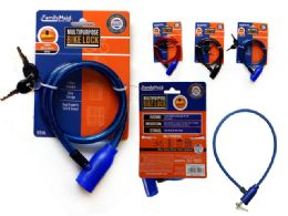 72 Units of Bicycle Cable Lock - Padlocks and Combination Locks