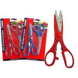 "96 Units of Kit Knife 1 Pc+1pc 8"" Scissor - Scissors"