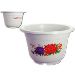 24 Units of Jumbo Flower Planter With Printing - Garden Planters and Pots