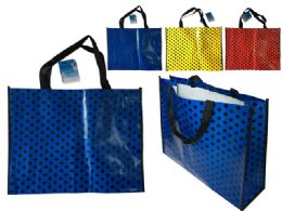 144 Units of Polka Dot Shopping Bag - Bags Of All Types