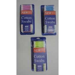 24 Units of 600pc Cotton Ear Swabs - Bathroom Accessories
