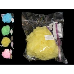 144 Units of Pediure Brush 4 In 1+50gm Ball - Manicure and Pedicure Items
