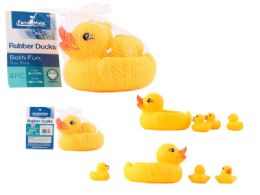 96 Units of Rubber Duck 4 Piece - Baby Toys