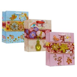 144 Units of Gift Bag Assorted Design - Bags Of All Types