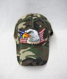 48 Units of Bald Eagle USA Baseball Cap - Baseball Caps & Snap Backs