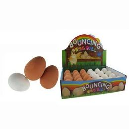 96 Units of Bouncing Rubber Egg - Easter