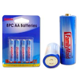 96 Units of 8pc Aa Batteries Blister Card - Batteries